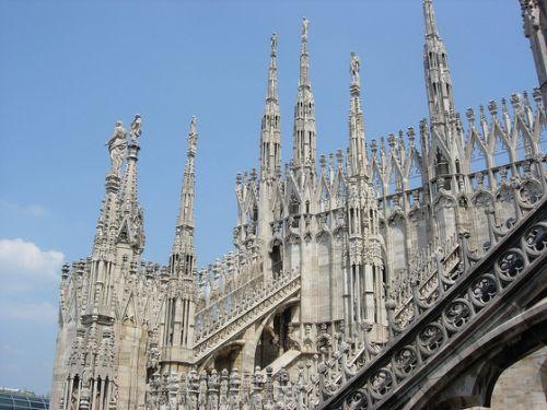 Rooftops of the Milano Duomo, Italy