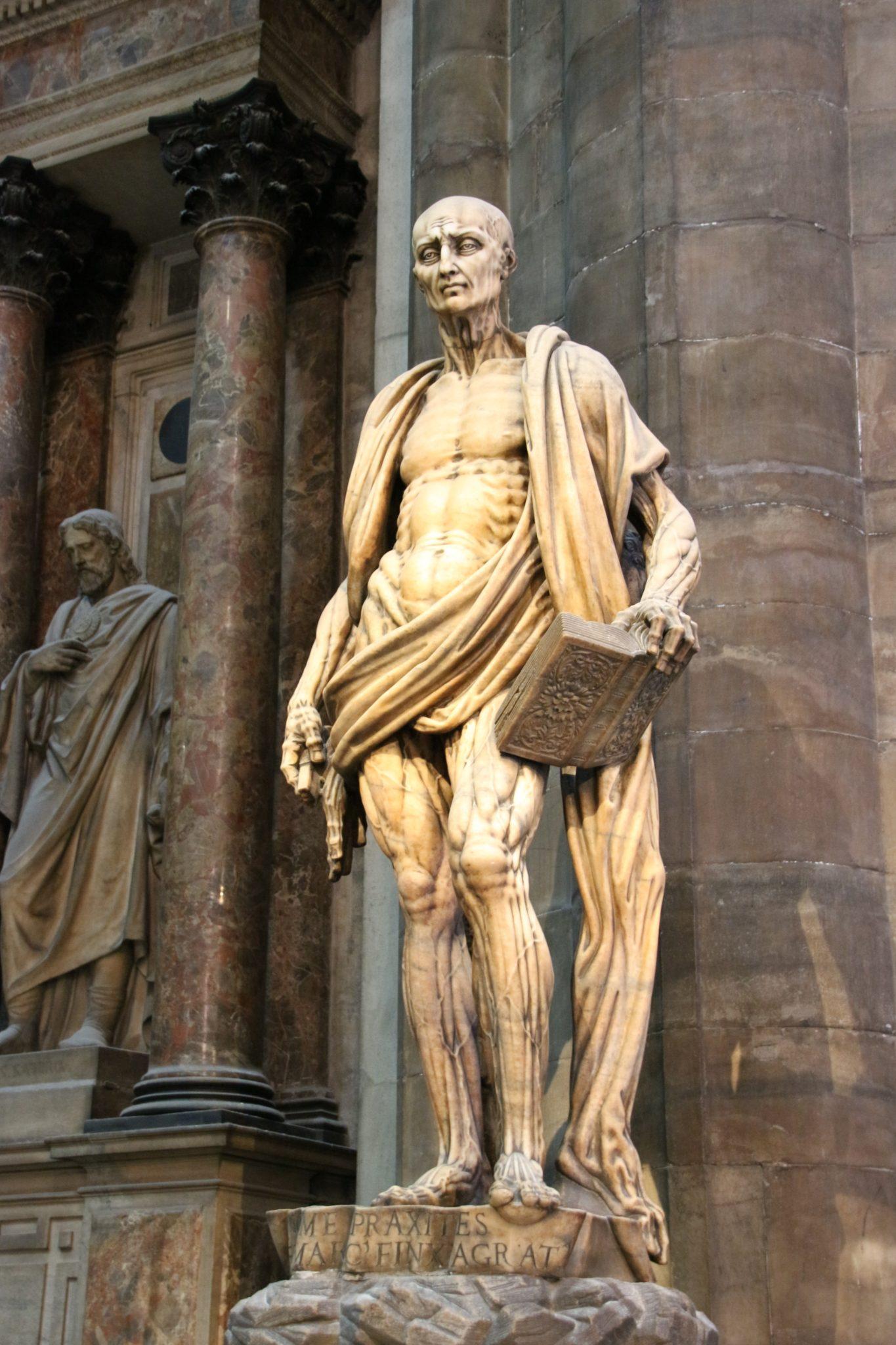 Saint Bartholomew Flayed, Milano Duomo, Italy