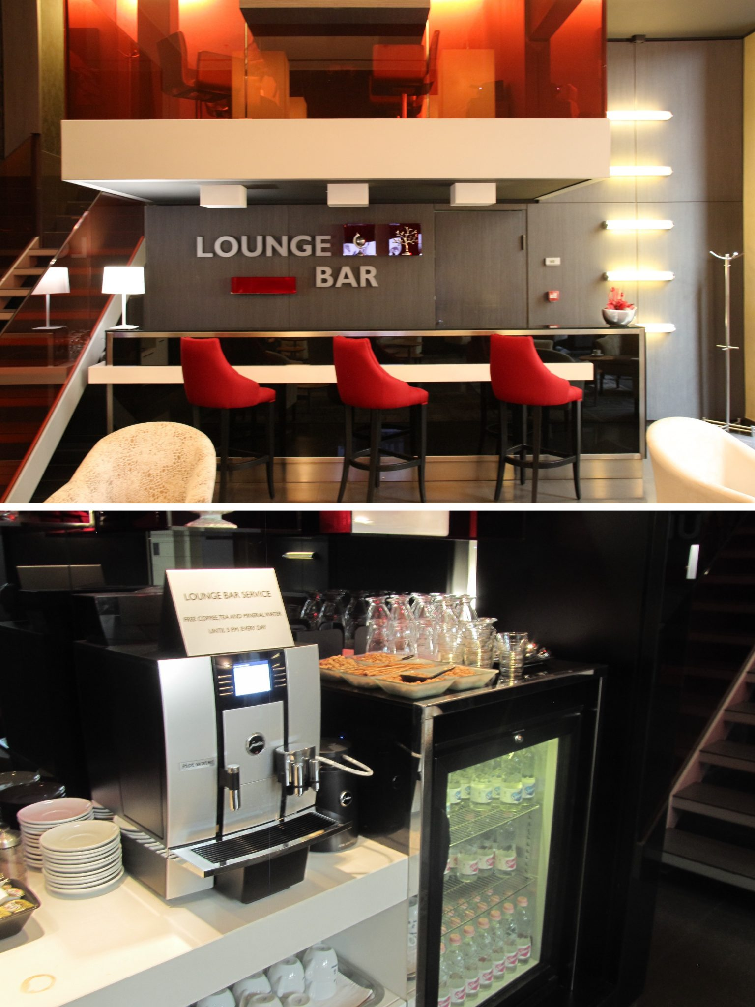 Cocktail Lounge by night and Coffee bar by day at Palazzo Zichy, Budapest