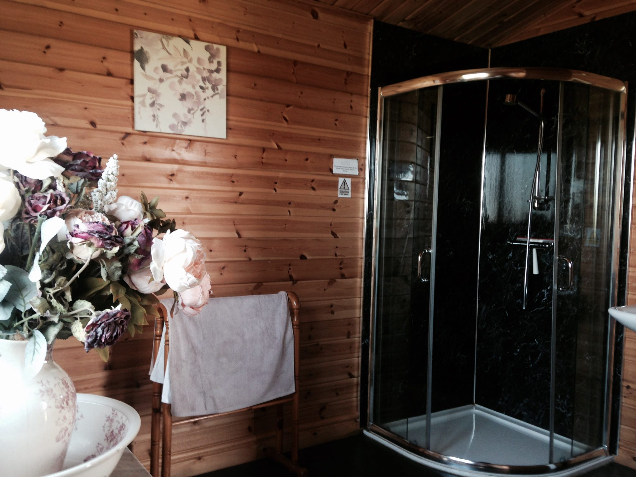 Shower block at Secret Cloud House Holidays Glamping site