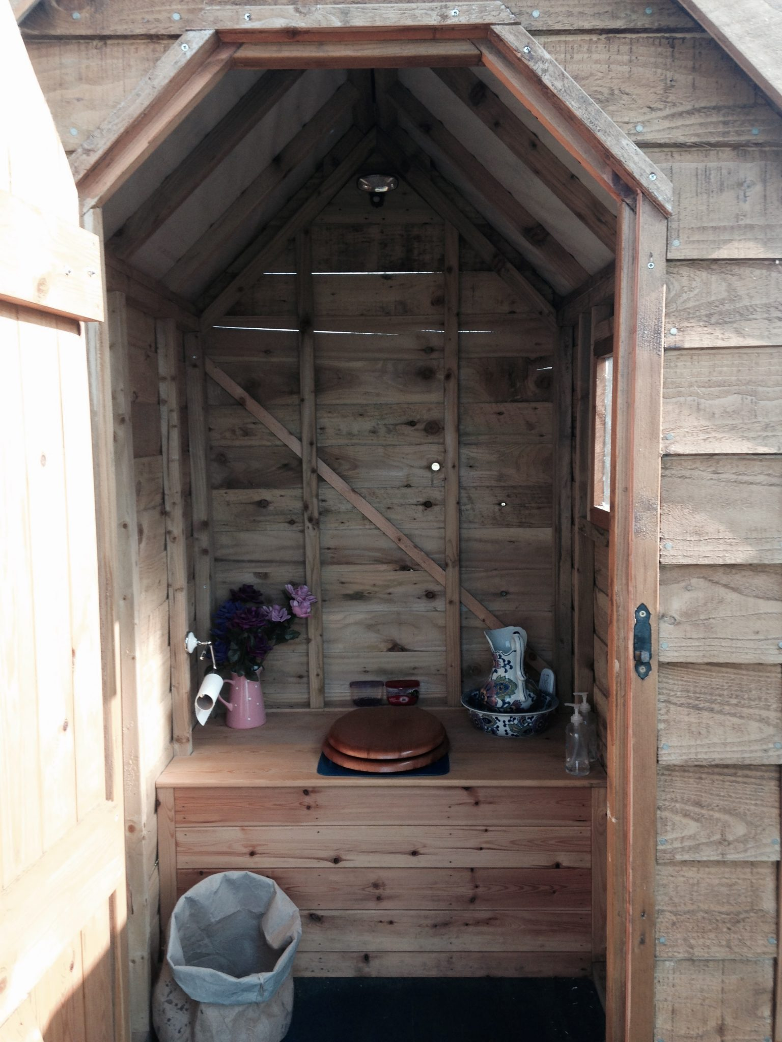 Eco toilet at the Secret Cloud House Holidays Glamping site