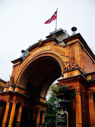 Entrance to Tivoli, Copenhagen, Denmark