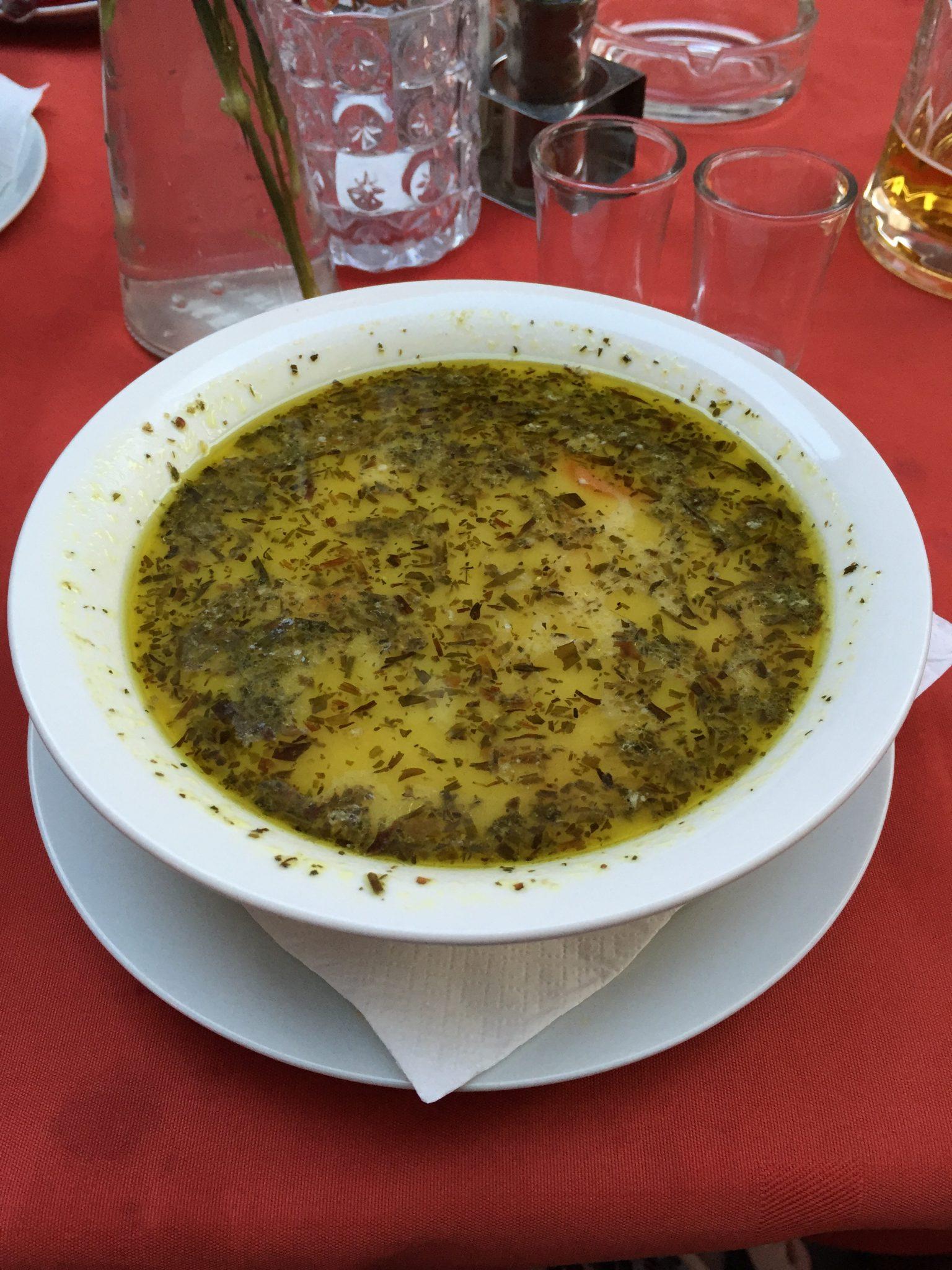 Hungarian chicken & dumpling soup