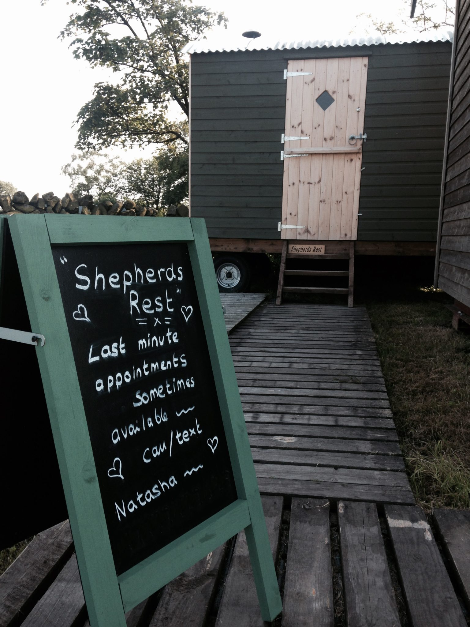 Shepherd's Rest treatment hut at Secret Cloud House Holidays Glamping site