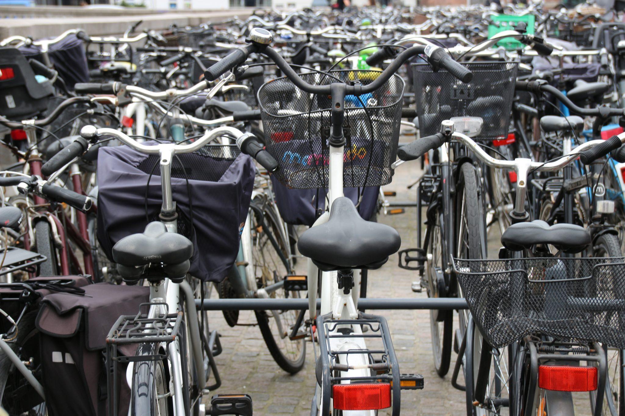 Bikes in Copenhagen, Denmark