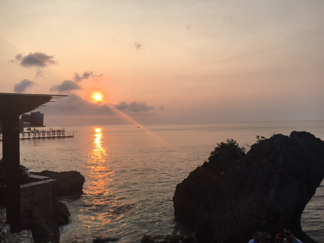 Sun set at The Rock Bar, Bali