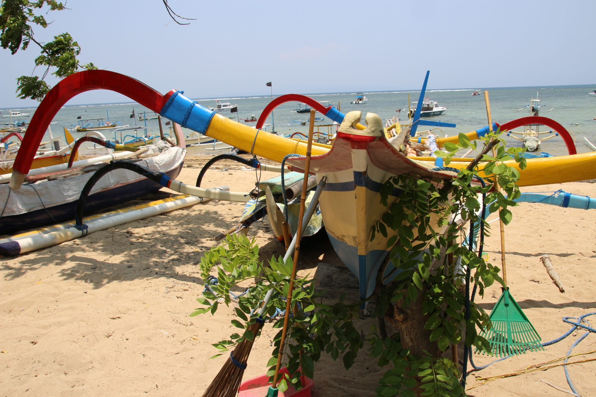 Fishing boats in Sanur, Bali