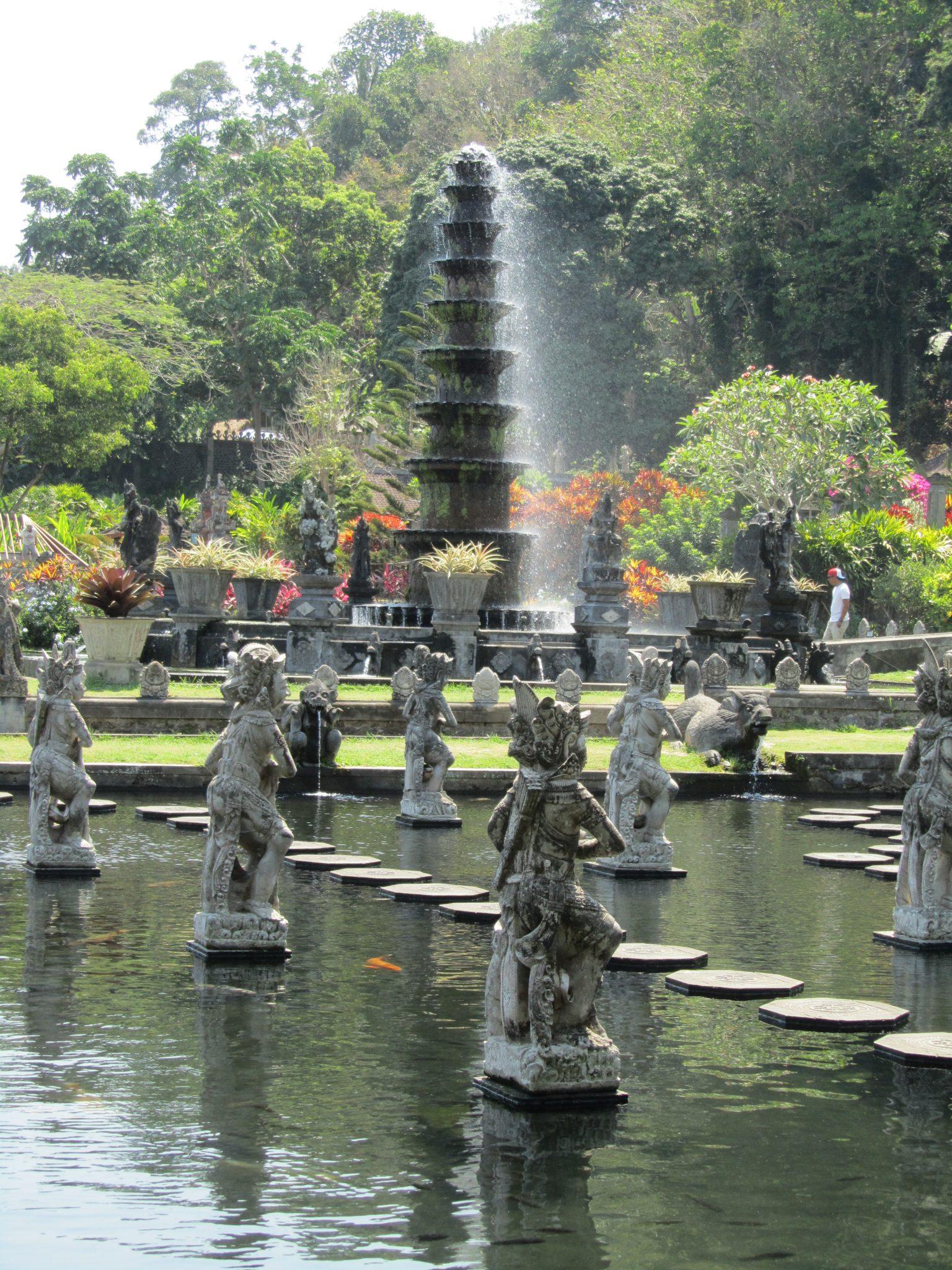 Lotus Fountain at Tirta Gangga Water Palace, Bali