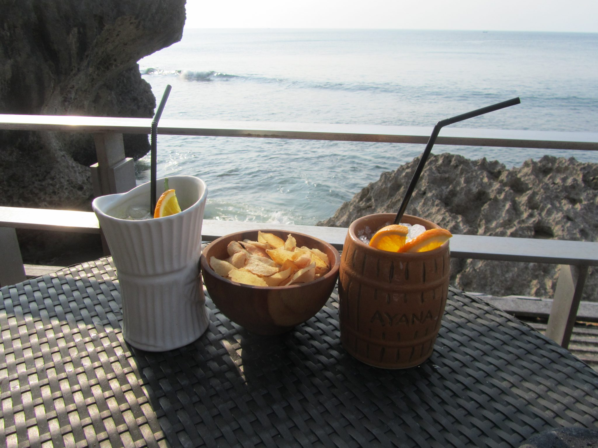 Cocktails at The Rock Bar, Bali