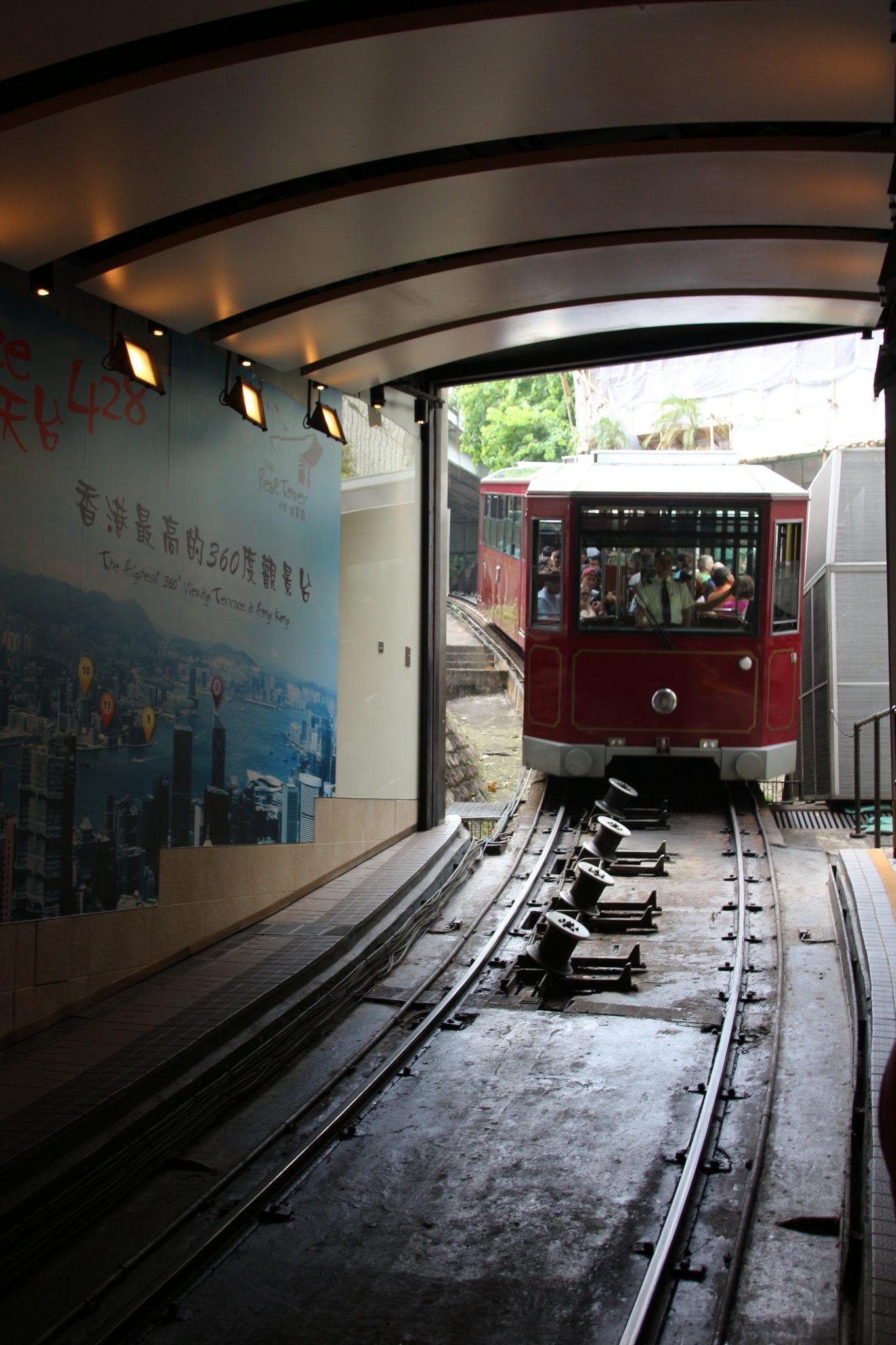 Tram at Victoria Peak, Hong Kong