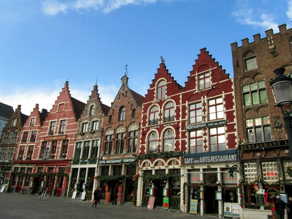 Beautiful gabled buildings in The Markt, Bruges