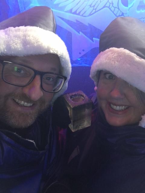 Mr ESLT & I at the Icebar London