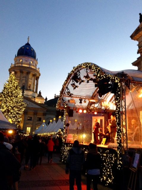 Stage at Christmas Market, Berlin
