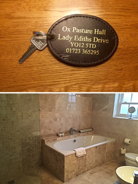The key to our suite & the gorgeous bathroom