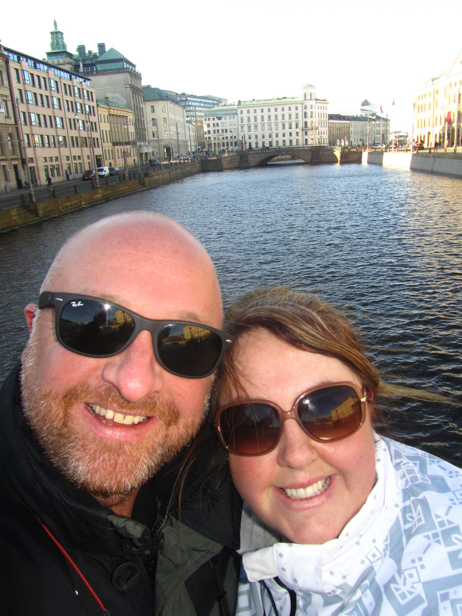Mr ESLT & I on our walking tour of Gothenburg