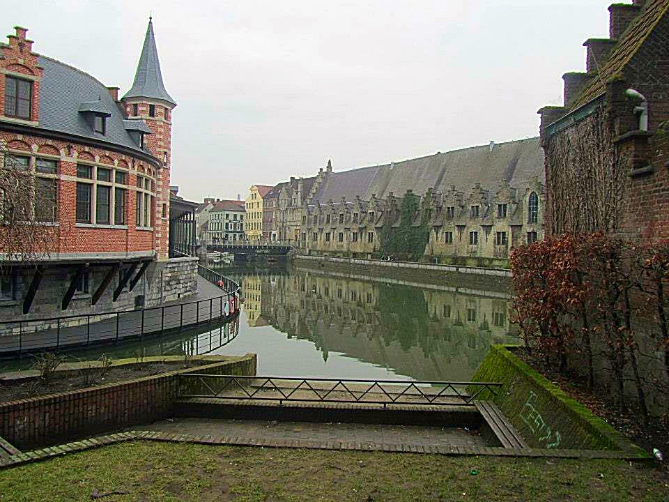 Canal in Ghent, Belgium