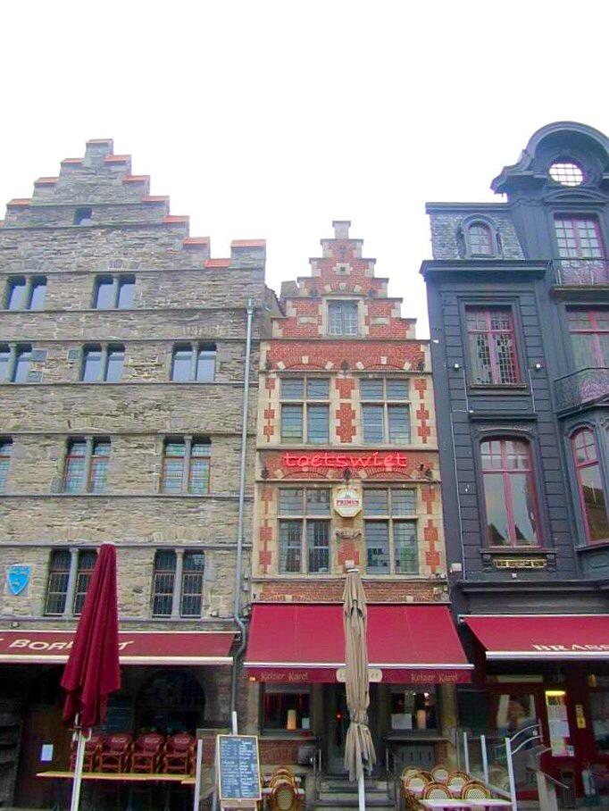 Buildings in Ghent, Belgium