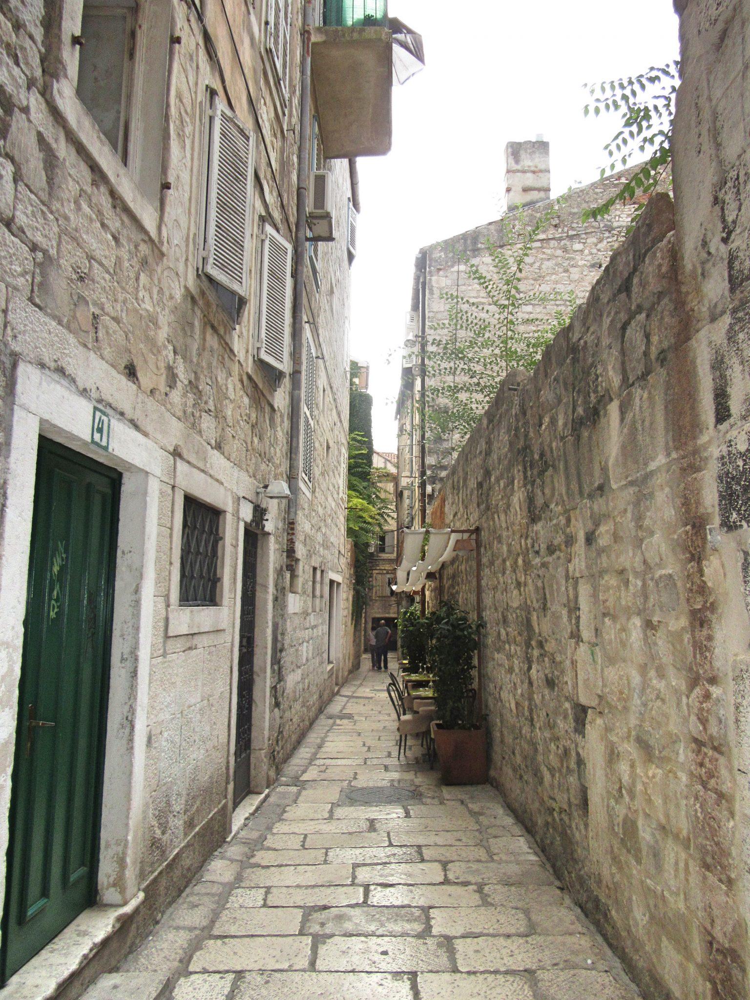 Beautiful streets in Split, Croatia