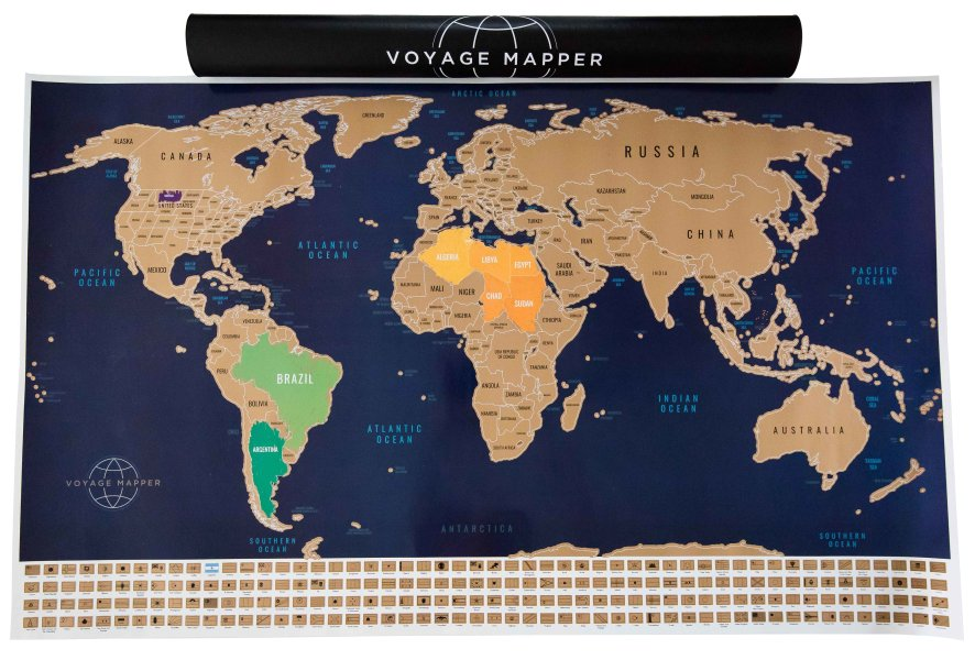 Scratching Countries Off Your Bucket List with Voyage Mapper