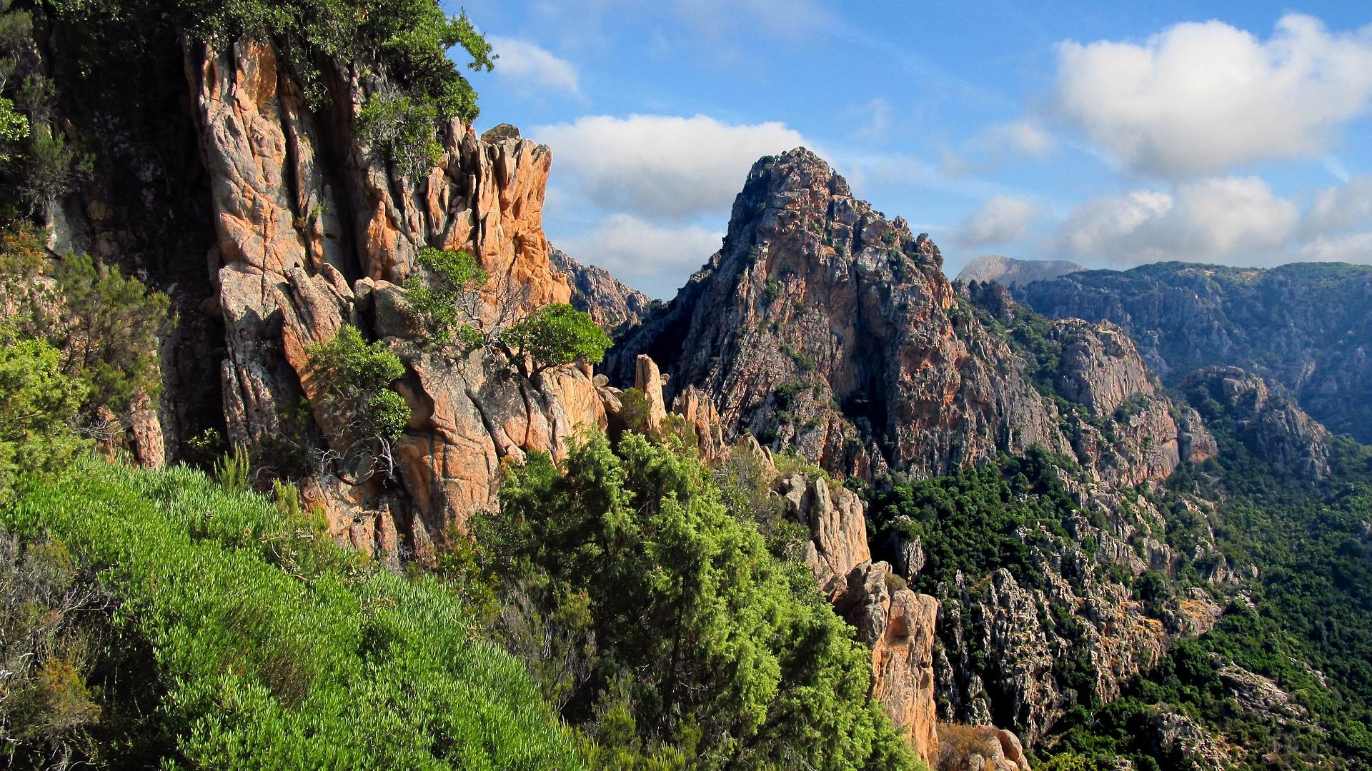 Mountains Corsica, France