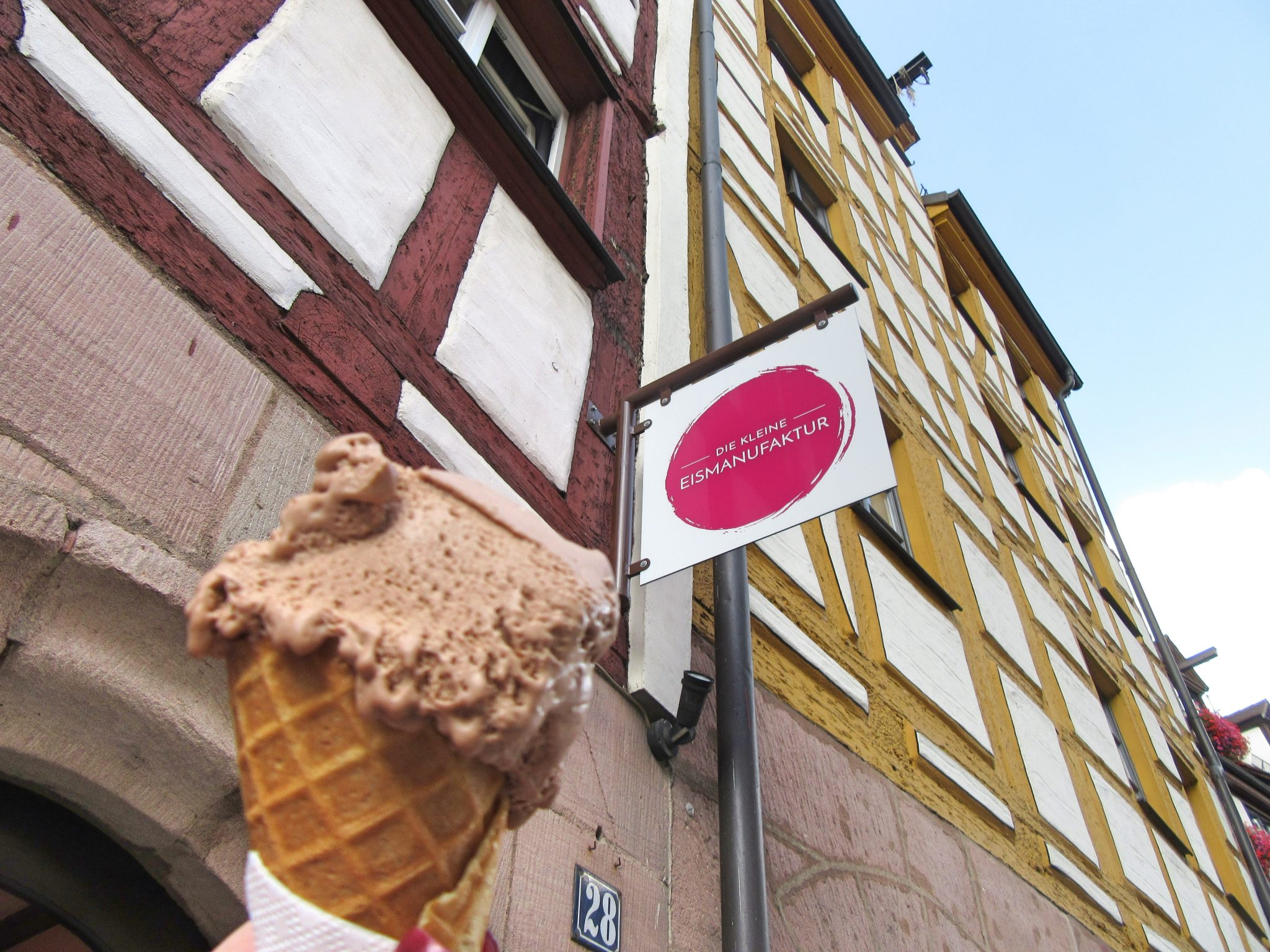 Ice cream in Nuremberg, Germany