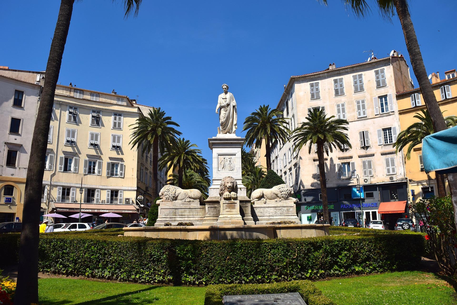 Ajaccio monument, Corsica, France