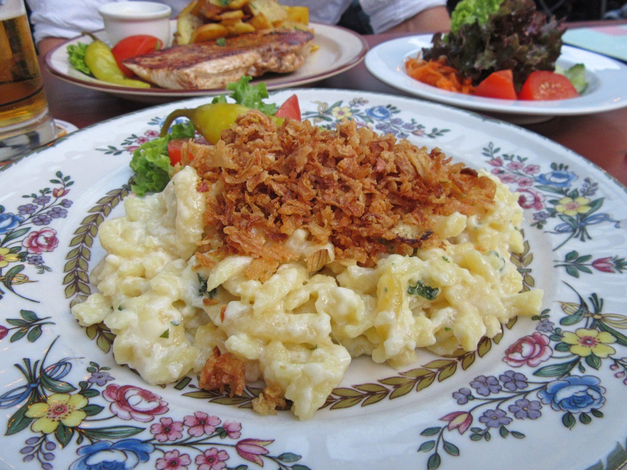 Schwäbische Käsespätzle (German Mac and Cheese), Nuremberg