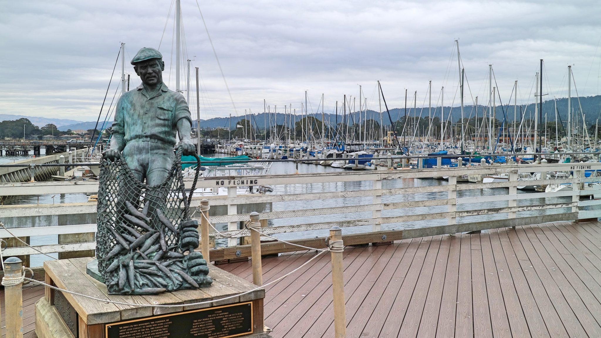 Statue at Old Fisherman's Wharf, Monterey, California