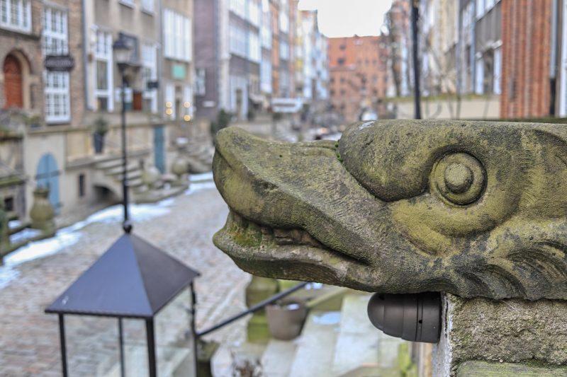 Gargoyle on Mariacka Street, Gdansk, Poland