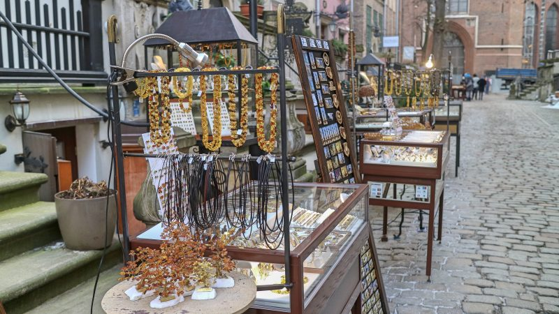 Amber Jewellery on Mariacka Street, Gdansk, Poland