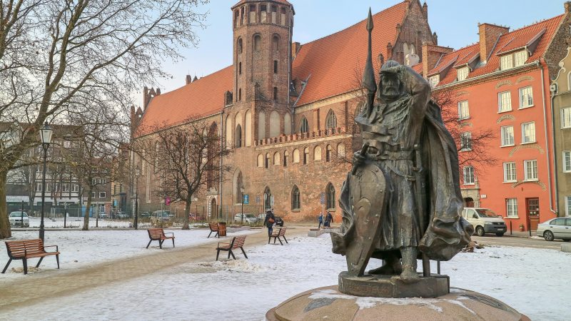 Gdansk in the frost, Poland