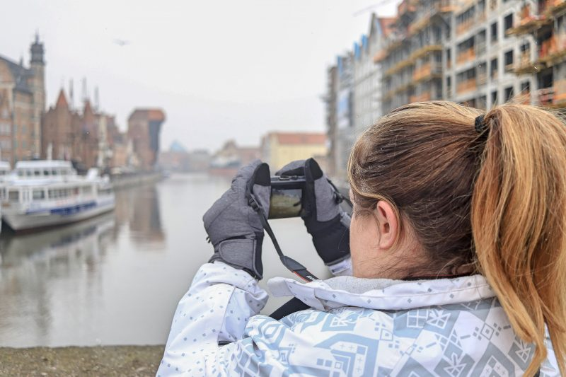 Vicky by the water in Gdansk, Poland
