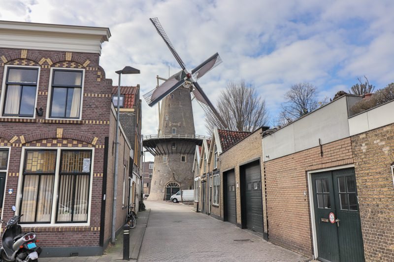 Windmill in Gouda, The Netherlands