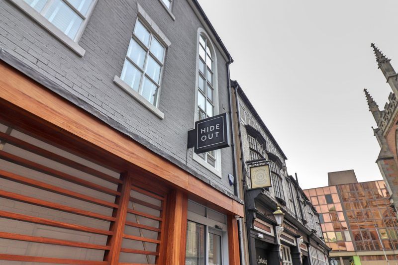 The exterior of the Hideout Hotel, Hull
