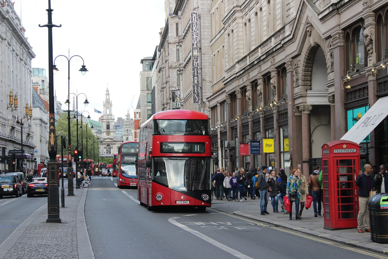 Shopping Street in London, England