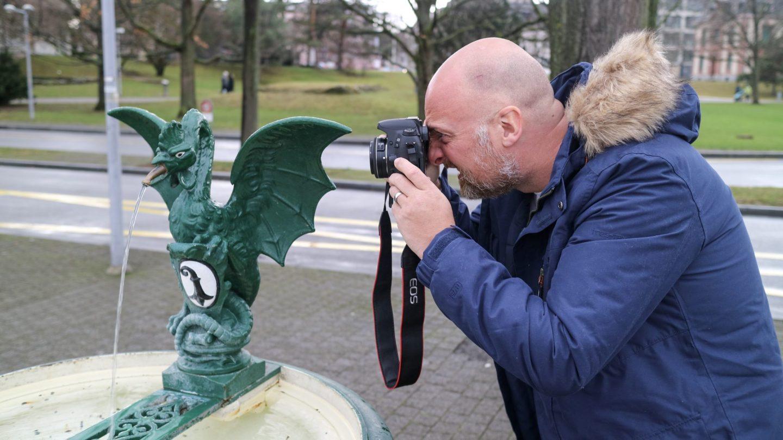 Mr ESLT and a dragon in Basel, Switzerland