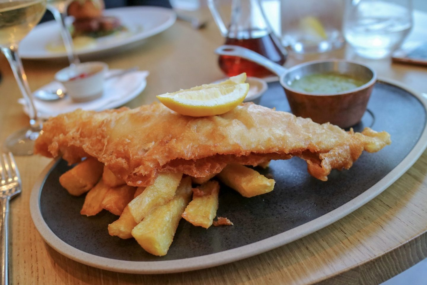 Fish and chips at The Devonshire Arms & Spa