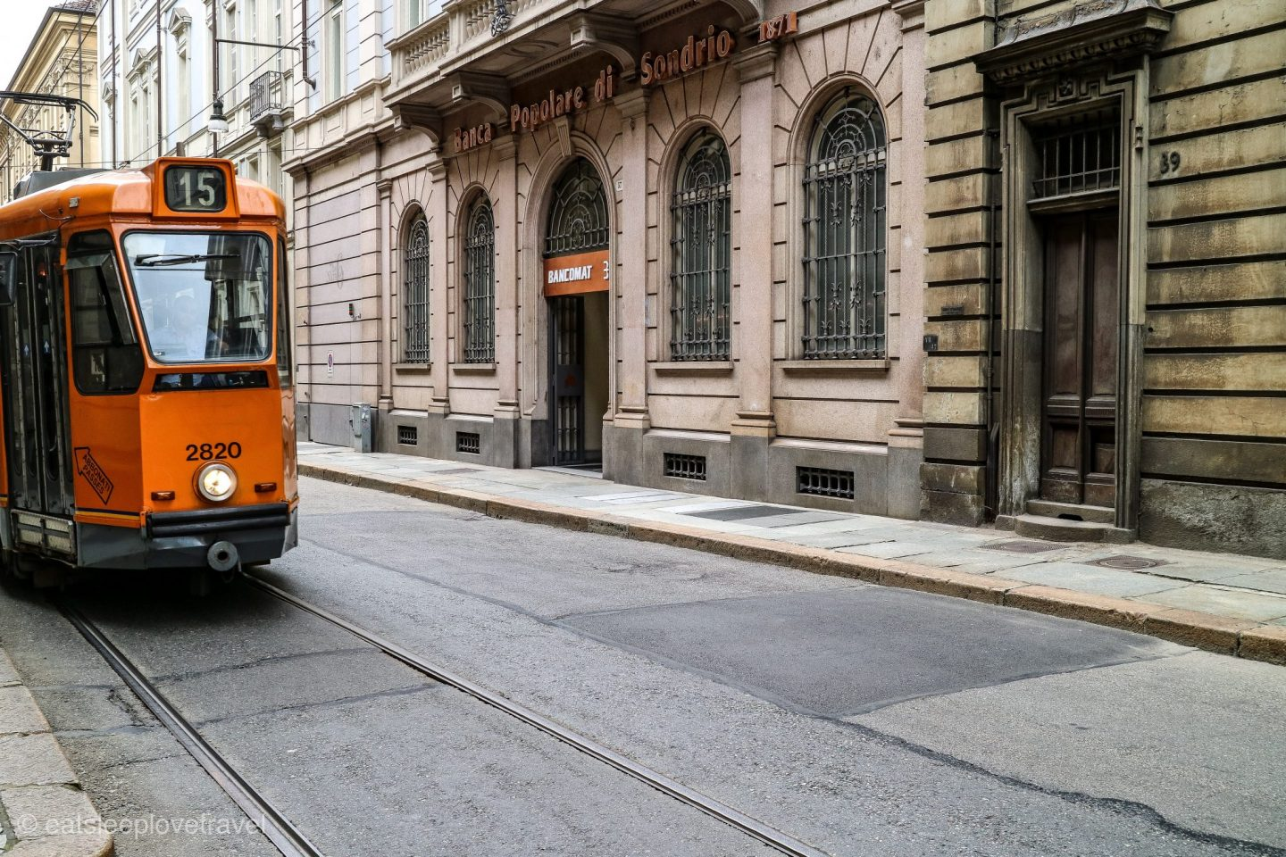 Tram in Turin, Italy