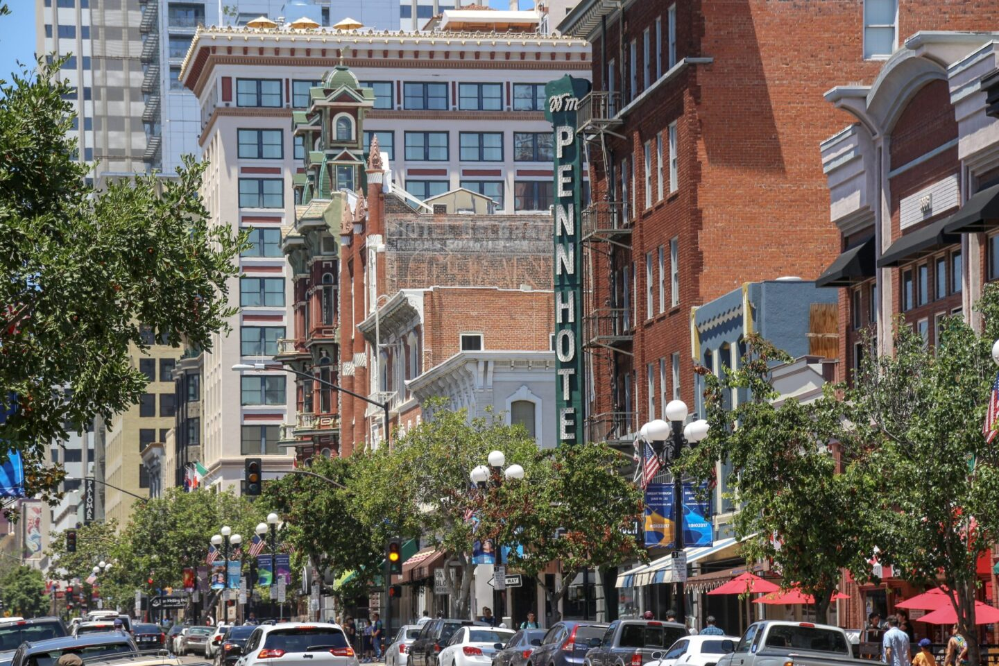 Street in Gaslamp Quarter, San Diego