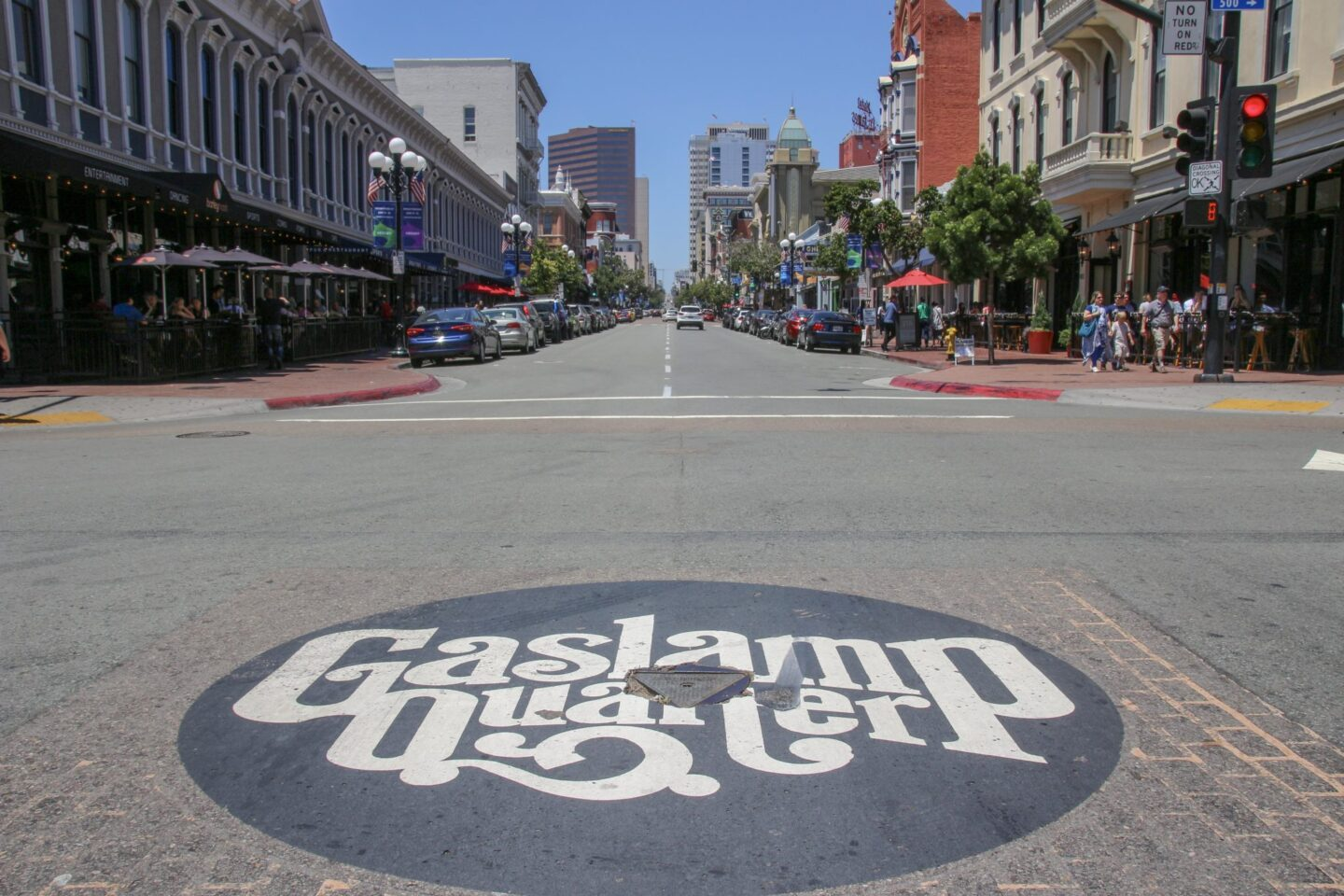 USA: Walking The Gaslamp Quarter, San Diego, California