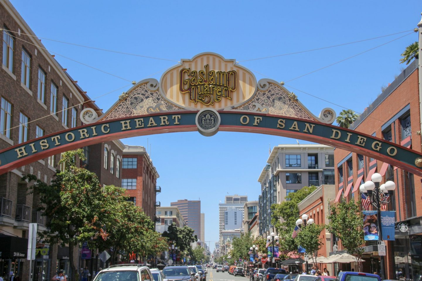Gaslamp Quarter Sign, San Diego