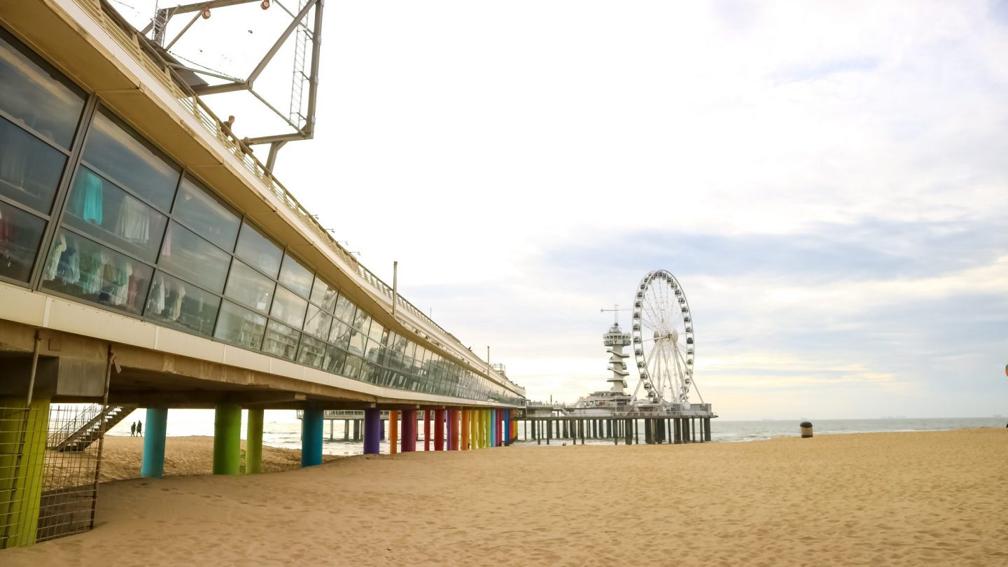 Beach at The Hague, The Netherlands