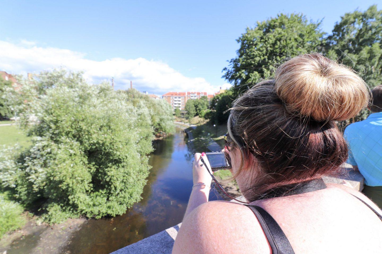 Vicky on Fairytale Bridge, Oslo, Norway