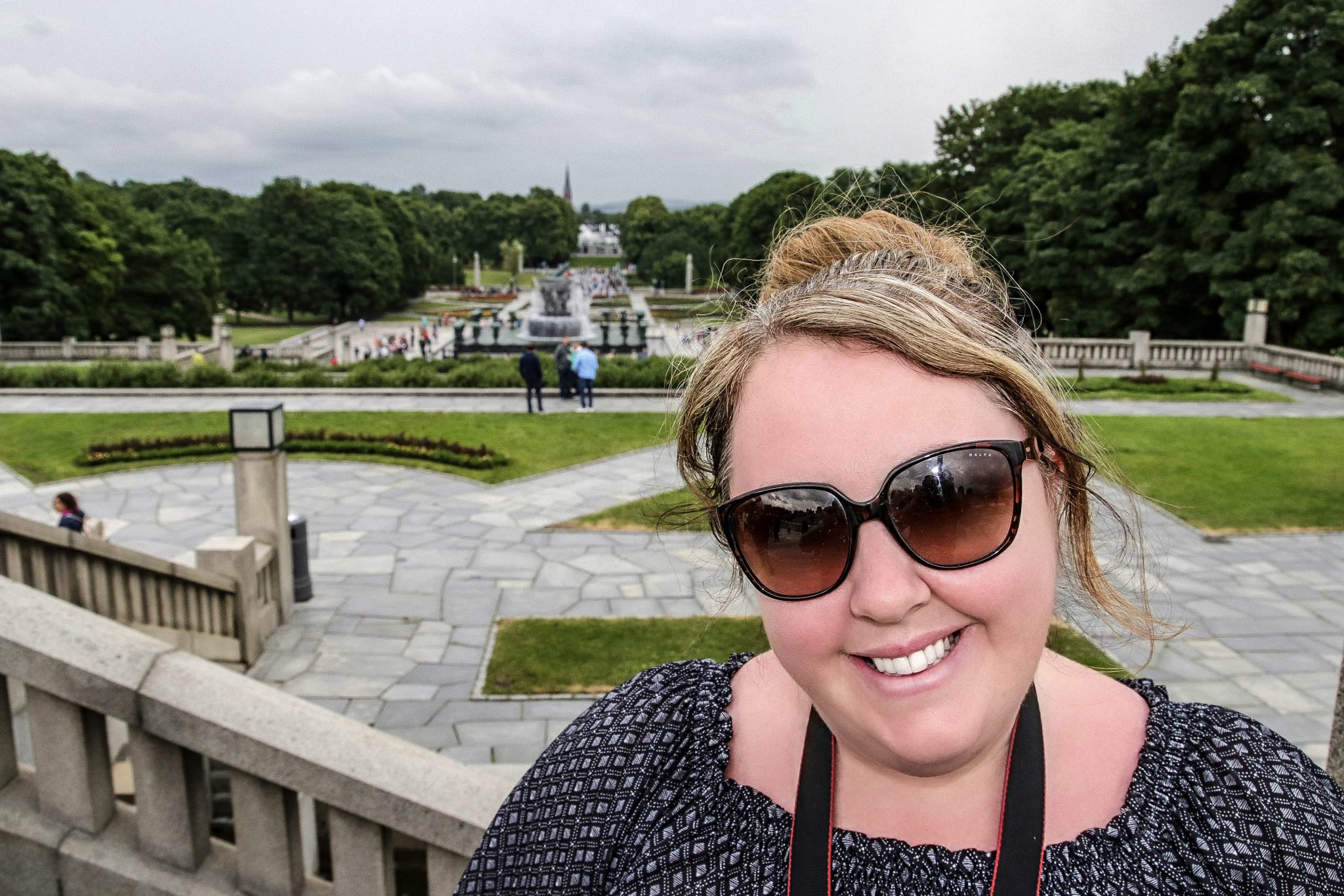 Vicky at Vigeland Sculpture Park, Oslo, Norway