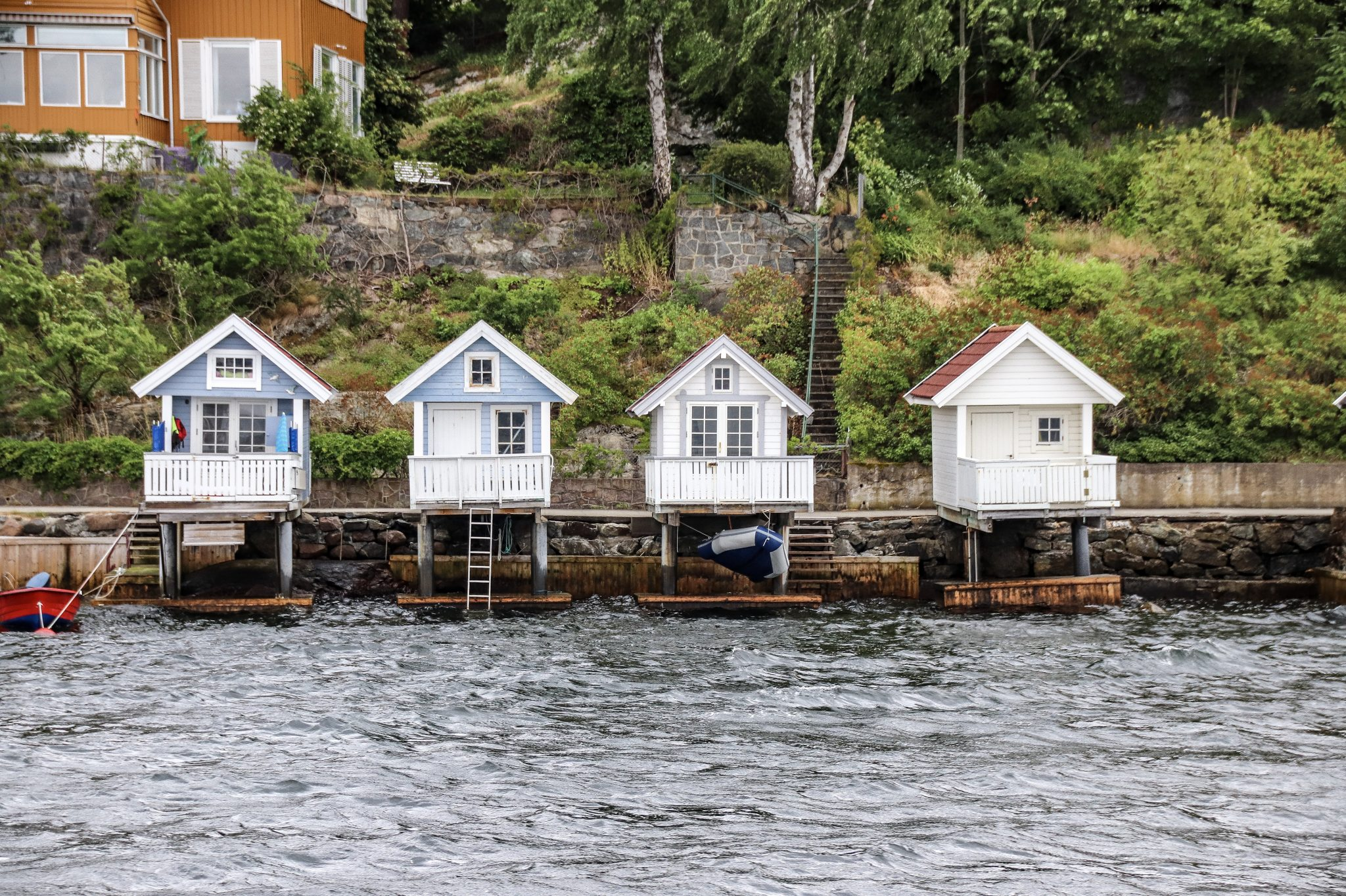 Houses on the Oslo Fjords, Norway