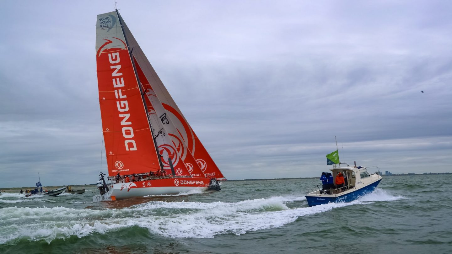 Boat at the Ocean Volvo Race, The Hague, The Netherlands