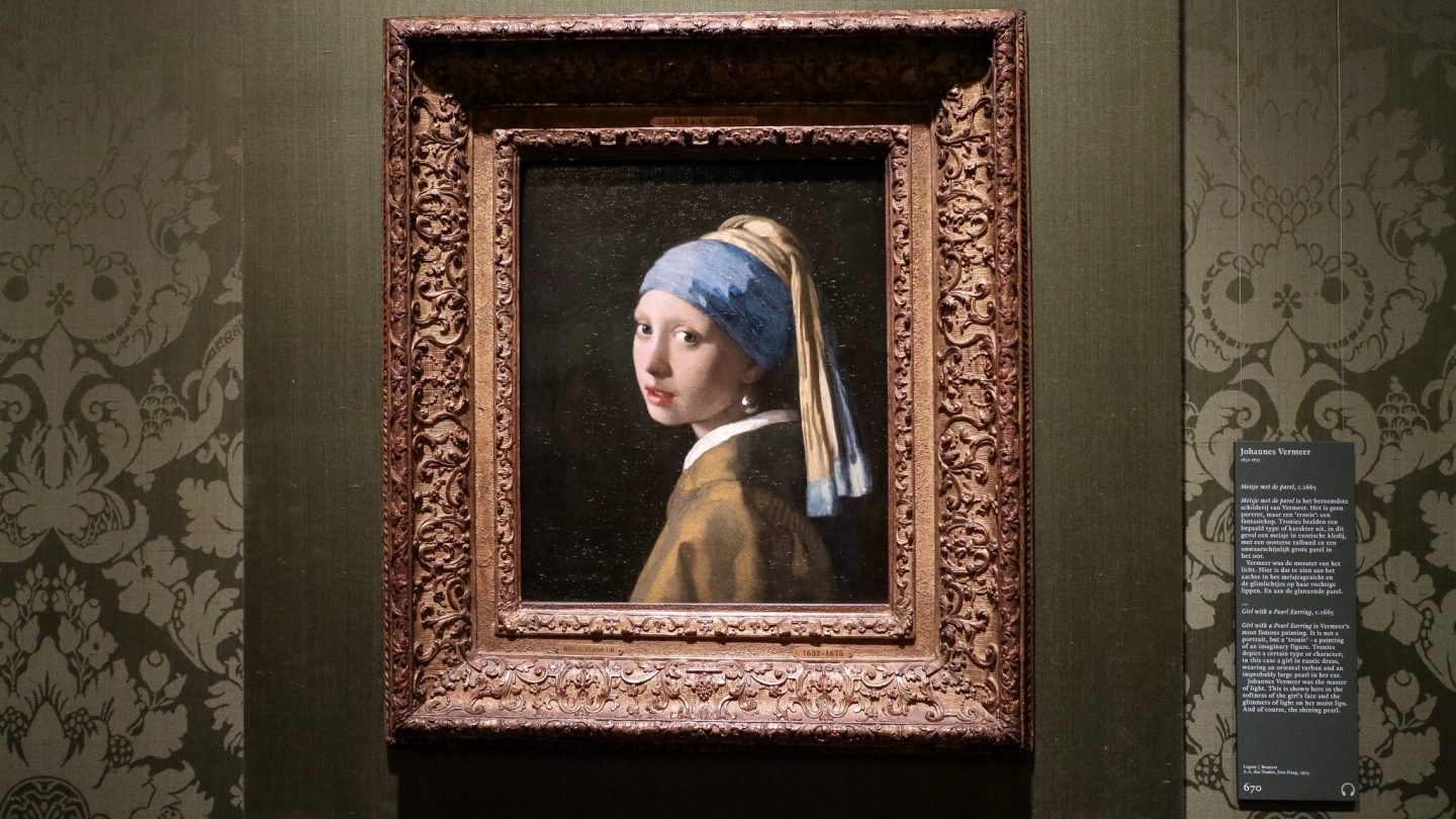 The Girl with A Pearl Earring at Mauritshuis, The Hague, The Netherlands