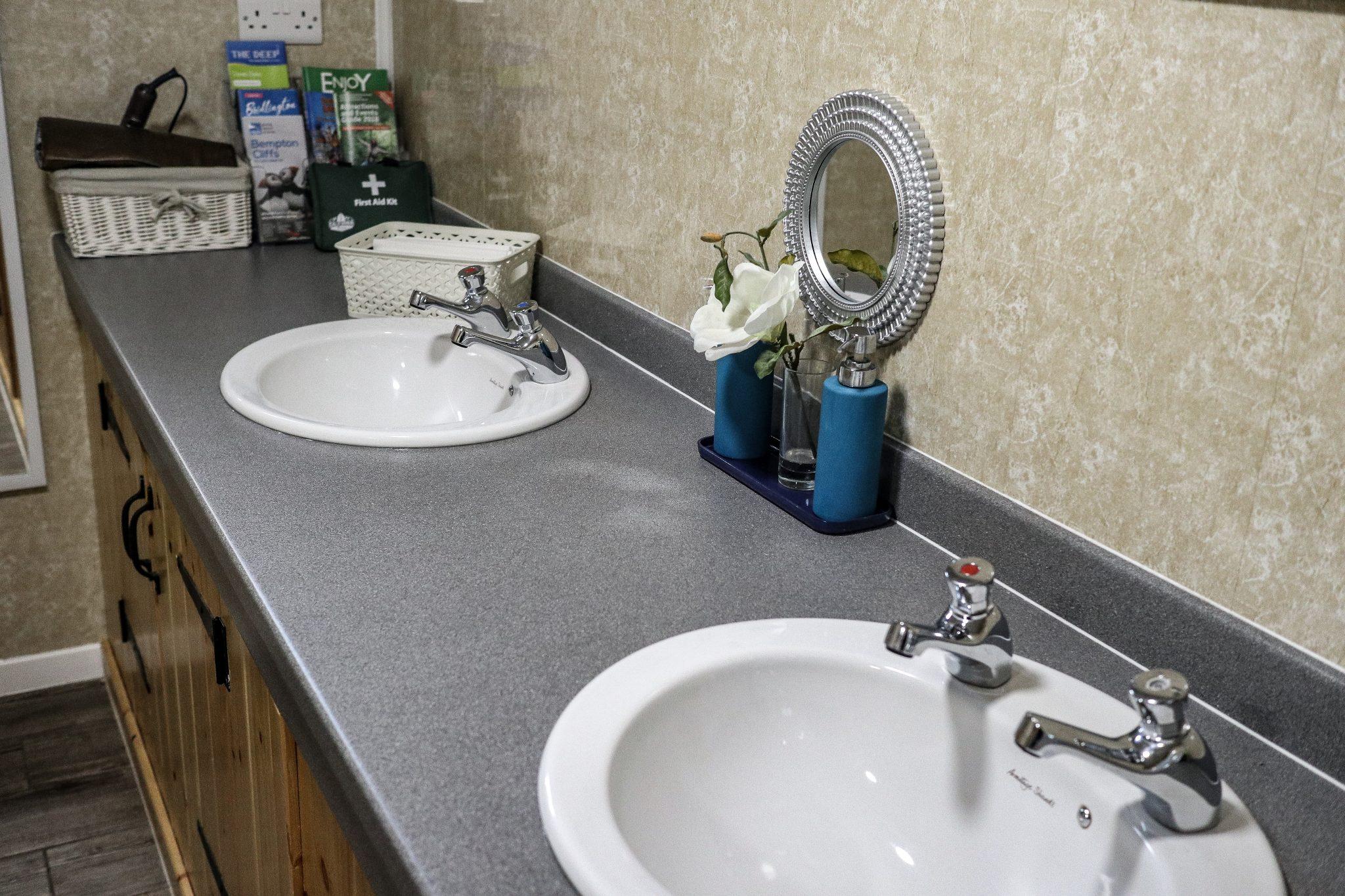 Toilet Block at Kingfisher Lakes Glamping Site