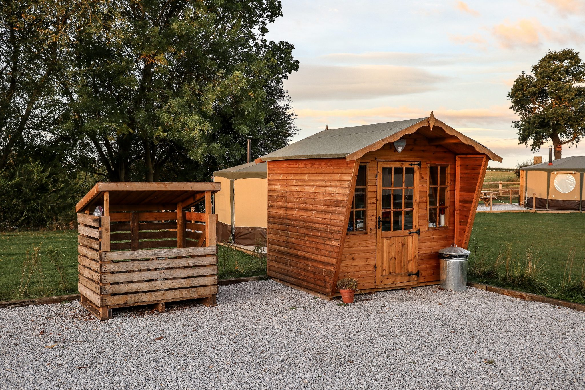 Kitchen Shed at Kingfisher Lakes Glamping Site