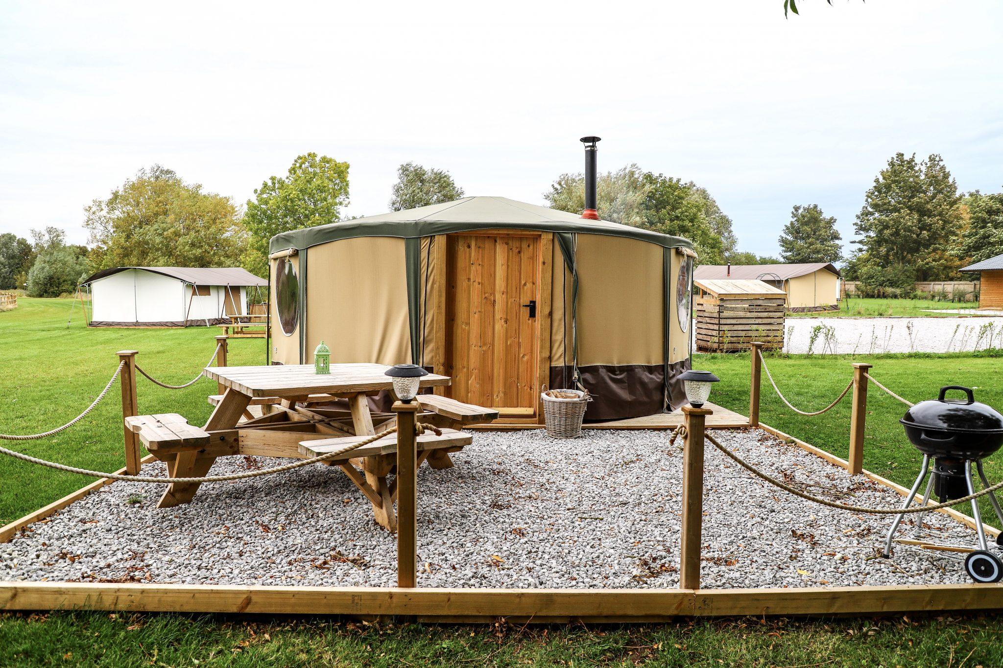 Yurt at Kingfisher Lakes Glamping Site